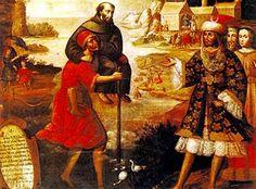 el milagro de las golondrinas      Basilio Santa Cruz, Pumacallao (1635-1710), peruano. Artista quechua, formado en la escuela de Cusco. T...