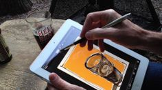 Drawing Vanilla Porter with the Sensu brush. Matt Lynaugh of Artist Hardware draws a glass of Breckenridge Vanilla Porter with the Sensu brush, using the app SketchTime for the iPad 2.