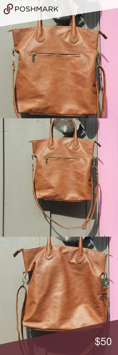 H&M Brown Tote Smart looking H&M Brown Crossbody and shoulder bag  Great condition H&M Bags Shoulder Bags