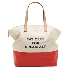 Cake for breakfast! I think I could be into Kate Spade - love the color & simplicity.