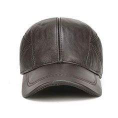 f727a6e5b Genuine Leather Panel Black Baseball Cap Leather Baseball Cap, Black  Baseball Cap, Baseball Caps