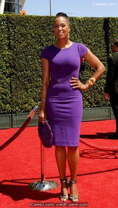Aisha Tyler The Creative Arts Emmy 2014 arrivals http://icelebz.com/events/the_creative_arts_emmy_2014_arrivals/photo1.html