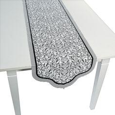 Black & White Wedding Table Runner - OrientalTrading.com $3.50