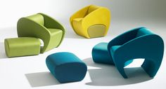 Fauteuil et pouf BARBAXEO contemporain design pour hotellerie restauration bar