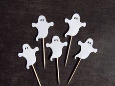 Halloween Cupcake Toppers Ghosts Party Decor door CatchSomeRaes