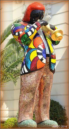 """""""Niki de Saint Phalle was a french Pop Artist, painter and sculptor. Miles Davis, Jean Tinguely, Henri Fantin Latour, Alberto Giacometti, Georges Braque, Nice Cote D Azur, French Sculptor, Public Art, Public Spaces"""