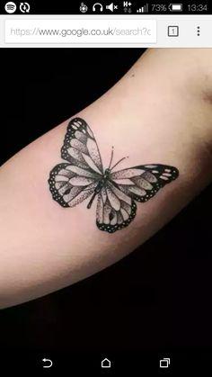 28 Beautiful Black and Grey Butterfly Tattoos Black and Grey Ink Butterfly Tattoo by Diogo Rocha Inner Arm Tattoos, Foot Tattoos, Cute Tattoos, Beautiful Tattoos, Body Art Tattoos, Small Tattoos, Sleeve Tattoos, Tatoos, Mini Tattoos