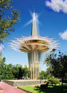 Atomic-Style Prayer Tower at Oral Roberts University in Tulsa, OK