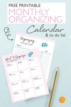 The Easy Home Organizing Schedule That Actually Works (with a FREE Printable Calendar) – Tips For The Best Organizations Calendar Organization, Organization Skills, Organizing, Free Printable Calendar, Printable Planner, Free Printables, Organized Mom, Getting Organized, Planner Tips