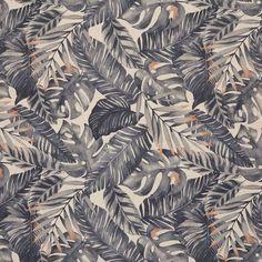 Tissu coton épais imprimé palmes