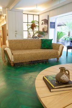Atrevido y bonito piso de madera. Da color y viveza con Bona
