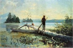 Winslow Homer An Adirondack Lake painting for sale, this painting is available as handmade reproduction. Shop for Winslow Homer An Adirondack Lake painting and frame at a discount of off. Paul Gauguin, Wassily Kandinsky, Gustav Klimt, Oil On Canvas, Canvas Art, Canvas Prints, Free Canvas, Vincent Van Gogh, Claude Monet