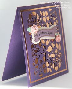 Stampin Up, #thecraftythinker, Detailed Floral Framelit, How to make roses with Paisley Framelits