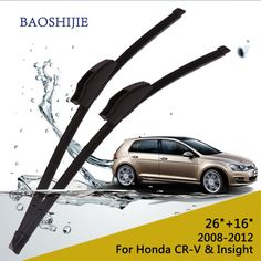 """Wiper blades for Honda CR-V  (2008-2012) and Insight (from 2009 onwards) 26""""+16"""" fit standard J hook wiper arms"""
