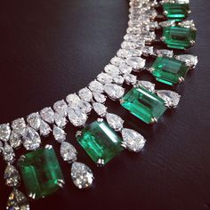 emeralds and pear-shaped diamonds.