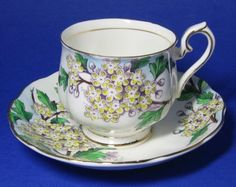 cup of month tea cups | ... Hawthorn Flower of the Month Tea Cup at Classy Option - 1940s Teacup