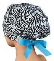 Scrub Hats - Scrub Caps - Scrub Hats for Women - The Hat Cottage - Small - Ribbon Ties - Ironwork - Turquoise Ribbon Scrub Caps, Hats For Women, Scrubs, Ties, Ribbon, Cottage, Turquoise, Board, Fashion