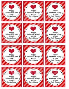 Valentines Day Tags  Cupcake Toppers Favor by CutiesTieDyeBoutique, $10.00