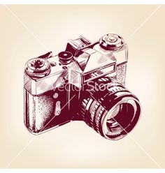 Vintage old photo camera illustration vector on VectorStock