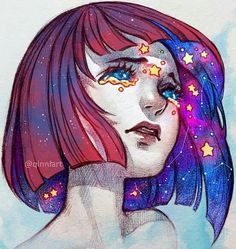 Qinni art looks like her work♥♥ Art And Illustration, Fantasy Kunst, Fantasy Art, Anime Kunst, Anime Art, Yuumei Art, Bel Art, Pretty Art, Art Inspo