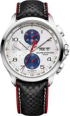 bf3da39a9a6 Baume   Mercier M0A10342 Clifton Club Cobra stainless steel and leather  watch Modelos De Relogios