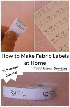 How to Make Fabric Labels at Home