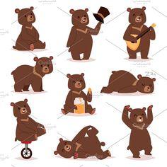 cute bear clipart whimsical bear illustration winter. Black Bedroom Furniture Sets. Home Design Ideas
