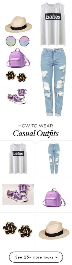 """""""Casual shoe and bag matching"""" by pepper-silliman-1 on Polyvore featuring Topshop, Roxy, Sunday Somewhere and Chantecler"""