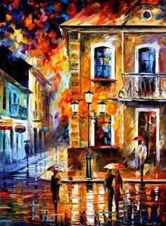 Charming Night by Leonid Afremov by Leonidafremov