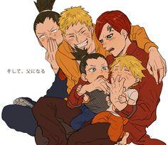Shikamaru, Naruto, Gaara, Shikadai, and Boruto. <3