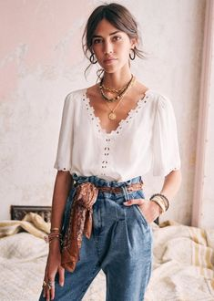 Look Retro, Look Vintage, Vintage Summer Style, Chic Summer Style, Mode Outfits, Casual Outfits, Fashion Outfits, Style Parisienne, Cozy Outfits