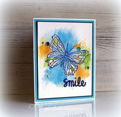 Butterfly Smiles - her inspiration was http://lorraineloots.com/item/3-april-2013/