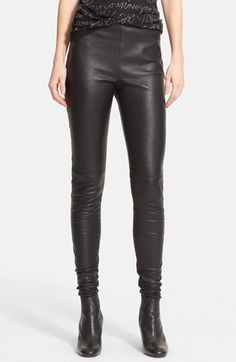 Lanvin Stretch Lambskin Leather Leggings available at #Nordstrom
