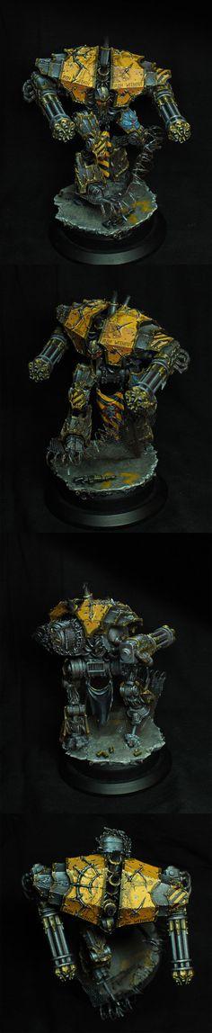 Chaos Space Marine Decimator of the Iron Warriors Legion.