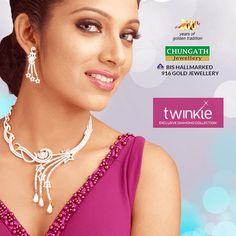 Exclusive Twinkle #Diamond #Necklace from Chungath Jewellery that makes you more #Beautiful! www.chungathjewellery.com