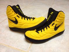 new style 05af4 3a996 Nike Wrestling Shoes Nike yellow sample olympic