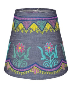 Take a look at this Denim Embroidered Lamp Shade by Karma Living on today!