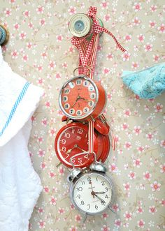Hanging clocks at Pip Studio, via Flickr.