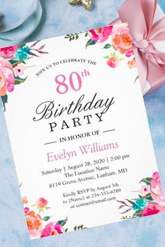 Birthday Invitations For Women