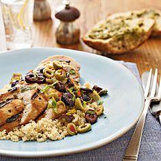 Lemon-Olive Grilled Chicken | MyRecipes.com #MyPlate #protein #grain