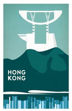 Hong Kong Posters by Joel Sadler, via Behance