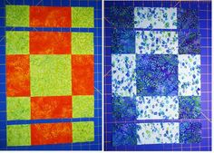 Chock-A-Block Quilt Blocks: Disappearing 9-Patch Variation