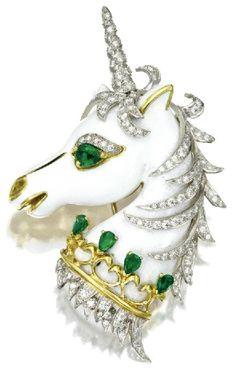 A David Webb Unicorn Brooch.
