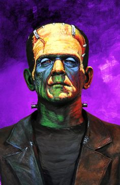 Frankenstein Monster by Basil Gogos Retro Horror, Vintage Horror, Arte Horror, Horror Art, Tattoos, Dragons, Arte Dc Comics, Horror Monsters, Poster