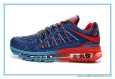 newest 4f994 370a0 lojas de chuteiras baratas Escuro Azul Vermelho Nike Air Max 2015 Hive KPU  Masculino Zapatos