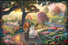 Thomas kinkade Have this in puzzle form 1000 pieces- Gone with the Wind. Frankly dear I don't give a damn