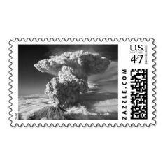 Mt. St. Helens Erupting Postage