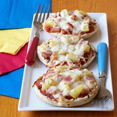 Canadian Bacon and Pineapple Mini Pizzas by Cooking Light