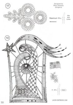 disegni - Sissi Sil - Webové albumy programu Picasa Freeform Crochet, Irish Crochet, Bobbin Lacemaking, Bobbin Lace Patterns, Crochet Snowflakes, Lace Heart, Point Lace, Lace Jewelry, Needle Lace