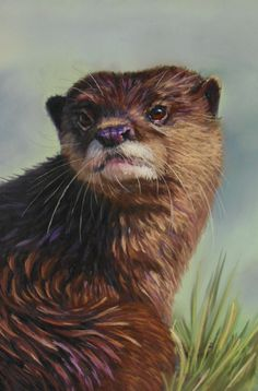The Otter: pastels video lesson by Catherine Inglis now available on ArtTutor